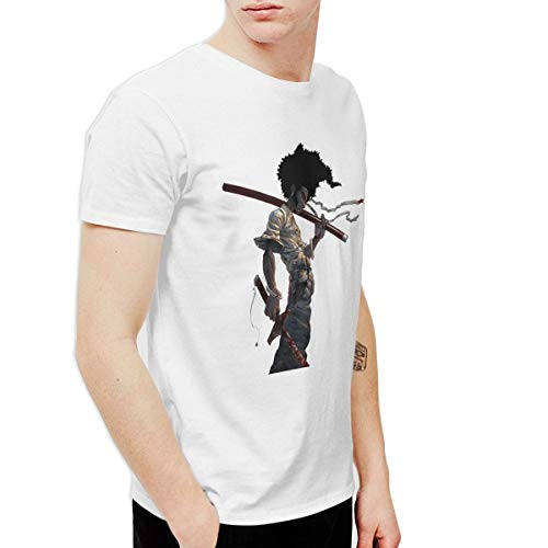 CLANN Afro Samurai Anime Short Sleeve T-Shirt White 4XL]()
