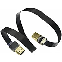 New BLACK 50CM FPV HDMI Cable Standard Interface to Standard Interface for RED BMCC FS7 C300