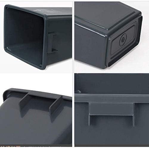 POIUY 100リットルのごみ箱、ノープラスチックカバーゴミ箱商業用オフィスジャンクボックスワイドカラーの複数のゴミ箱缶回収 (Color : Red)