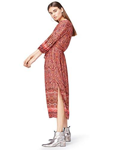 Find Boho Multicolore Vestito Mix Donna orange Midi U6wanz7qrU
