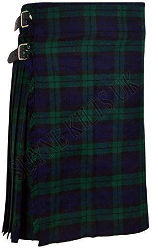 Black Watch Men's 5 Yard Scottish Kilts Tartan Kilt 13oz Highland Casual Kilt (Black Watch Kilt)