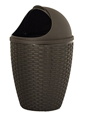 1.88-Gal Round Roll Up Trash Can Color Brown by Superior Performance