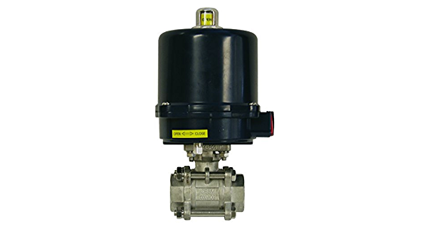 24 VDC Dixon BV2IG-05011-EG 316SS Electric Actuated FNPT Ball Valve with Heat 1//2 1//2 N4