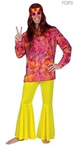 Disfraz Camisa Hippie Psicodélica - S 106-111cm Pecho