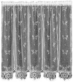 Heritage Lace Heirloom 60-Inch Wide by 84-Inch Drop Sheer Panel, White