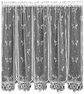 product image for Heritage Lace Heirloom 60-Inch Wide by 84-Inch Drop Sheer Panel, White