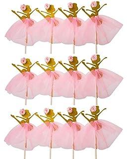 61a3f745f LASLU Cute Ballet Dancer Girls Fairy Peri Dessert Muffin Cupcake Toppers  for Picnic Wedding Baby Shower