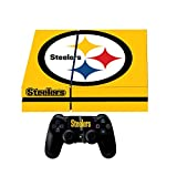 Sony Playstation 4 Skin + 2 Free Controller Skins Pittsburgh NFL+ Ps4 Light bar decals