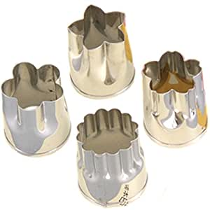 Japanese Stainless Steel Vegetable Cutters Set of 4