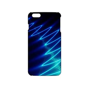 Ultra Thin Blue light line 3D Phone Case for iPhone 6