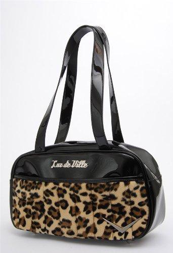 "Lux De Ville ""Cruiser"" Tote (Black & Leopard)"