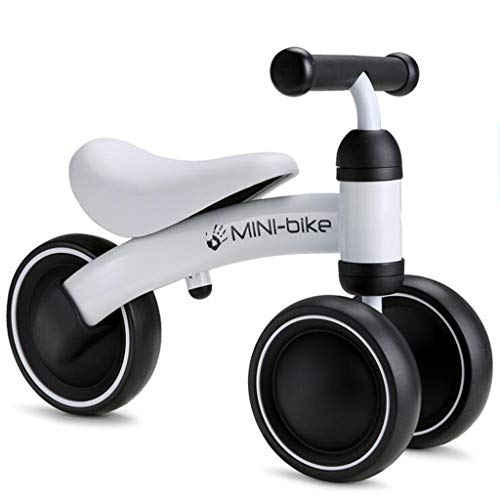 Children No Foot Pedal Balance Bikes Electrical Car for Infant 1-3year Scooter Driving Bike Gift for Child Tricycle Ride On Cars (Color : White)