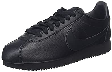 Nike Australia Men's Classic Cortez Leather Trainers, Black/Black-Anthracite, 8 US