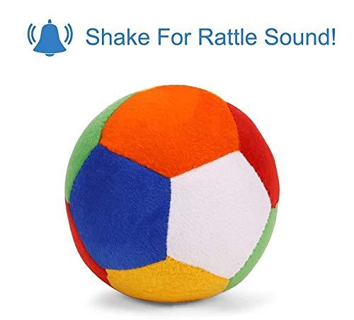 Babique Sitting Plush Soft Toy Cute Kids Animal Home Decor Boys/Girls (10 cm, Rattle Ball) 3