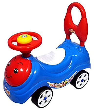 2c6737335a96d Buy Kajal Toys Sunny 4 Wheel Rider Toddler and Push Along Small Magic Car  with Horn for Kid s (Multicolour) Online at Low Prices in India - Amazon.in