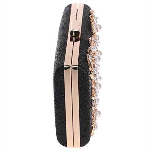 Sac Sortie Diamant De Mariage Soirées Main À Épaule Robe Nuptiale Clutch Femme Paillettes Black 4q7xtwC0