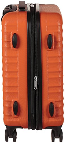 AmazonBasics Hardside Spinner Luggage - 20-Inch, Orange