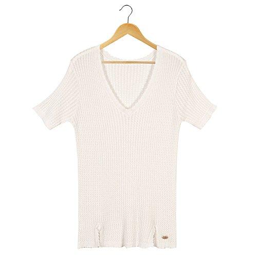 Fine Sottile A Corte Maniche Sau Rosa Dell'estate T Video Xmy Circolare Con Bianco shirt Colletto Ragazza dwqdOa0