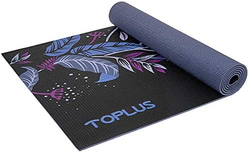 TOPLUS Yoga Mat, Non-Slip Yoga Mat Eco Friendly Exercise Workout Mat with Carrying Strap- for Yoga, Pilates and Floor Exercises 1 4 inch-1 8 inch