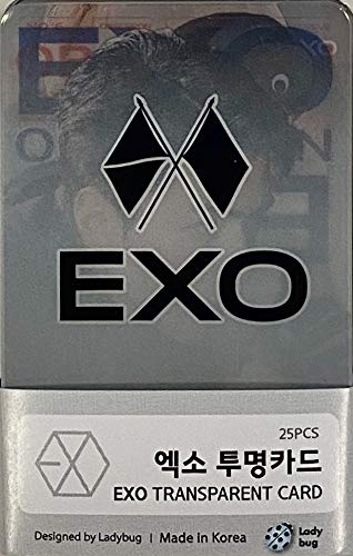 FANCY105 K-POP Group Transparent Photocards Set - 25P (EXO)