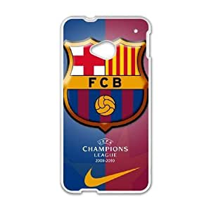 HTC One M7 phone case White FC Barcelona POSSR5769809