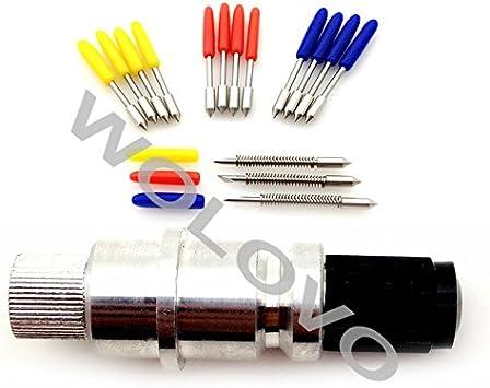15pcs 30/45/60 Grado Graphtec CB09/CB09U cortador de hoja de Vinilo Plotter/impresora hoja de cuchilla + soporte: Amazon.es: Bricolaje y herramientas