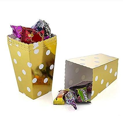 HellO X - Cajas de Palomitas de maíz (cartón, cómodas), Color Dorado