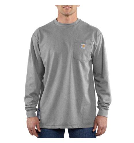 Carhartt Flame Resistant L/S T-Shirt, Light Gray, Medium ()