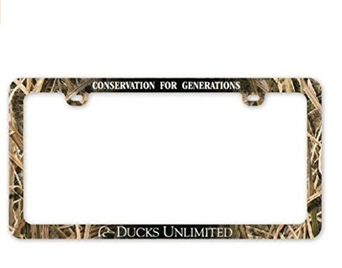 Ducks Unlimited License Frame, Universal, Mossy Oak - Chain Plate License Frame