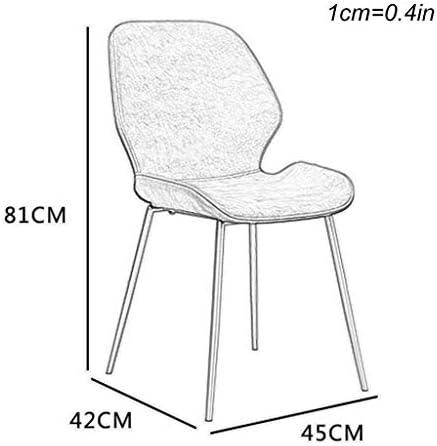 Amrai Chaise de Salle à Manger et de Cuisine Moderne rembourrée - Pieds en métal + Siège en Cuir, Chaises visiteurs de Salon, Marron