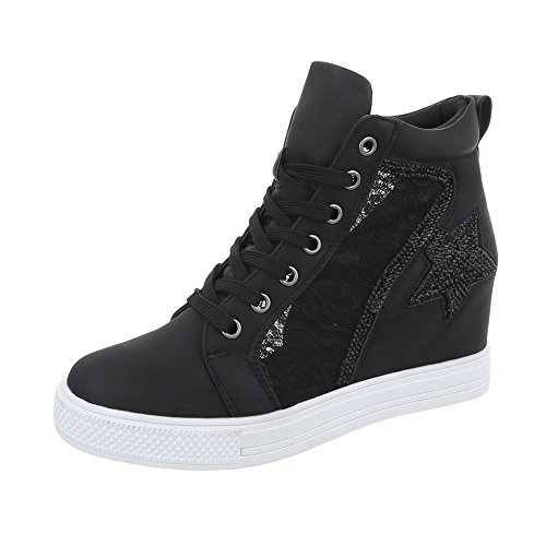 Baskets Compensé mode Design Chaussures femme Espadrilles Sneakers Ital high O5Cxqxw