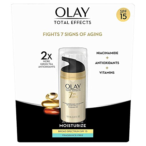 Olay Total Effects 7-in-1 Anti Aging Fragrance Free SPF-15 Large Size 3.4 fl oz! NEW FORMULA! (Best Anti Aging Night Cream For Oily Skin In India)