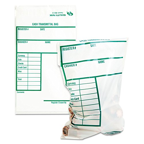 Staples Advantage Drop Cash Bag w/ Redi-Strip Closure