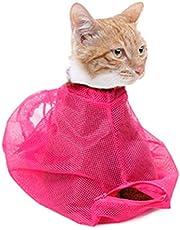 Bolsa de Baño para Lavar, Peluqueria para Mascotas Gatos Anti Rasguno Anti Mordaz Bolsa de Malla de Poliester para Ducha, Limpieza de Orejas, Corte de Unas, Alimentacion de Medicamentos