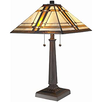 Amora Lighting AM1053TL14 Tiffany Style Mission Design Table Lamp ...