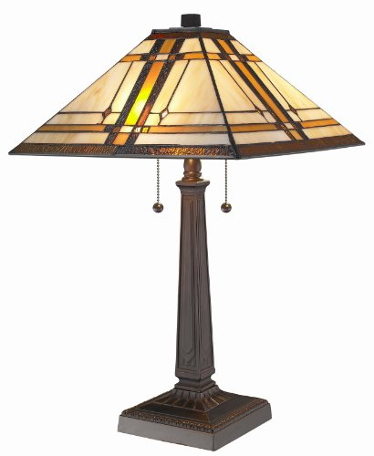 Amora Lighting AM1053TL14 Tiffany Style Mission Design Table Lamp, ()