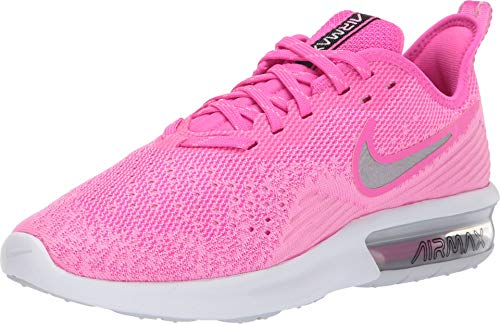 Nike Women's Air Max Sequent 4 Running Shoe Laser Fuchsia/Metallic Silver Size 8.5 M US