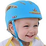 eZoneUK Infant Baby Toddler Safety Helmet Kids Head Protection Hat for Walking Crawling Baby Children Infant Adjustable Safety Helmet Headguard Protective Harnesses Cap (Blue)