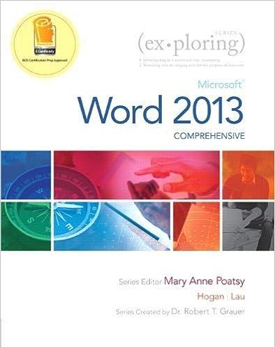 Book Exploring: Microsoft Word 2013, Comprehensive (Exploring for Office 2013) by Lynn Hogan (2013-05-30)