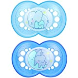 MAM Glow In the Dark Pacifiers, Baby Pacifier 6+ Months...