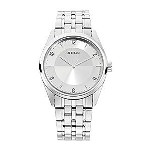 Titan Neo Economy Analog Silver Dial Men's Watch-1729SM06 / 1729SM06