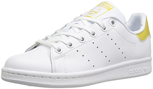 adidas Originals Boys' Stan Smith J Sneaker, White/White/Metallic/Gold, 5 M US Big Kid by adidas Originals