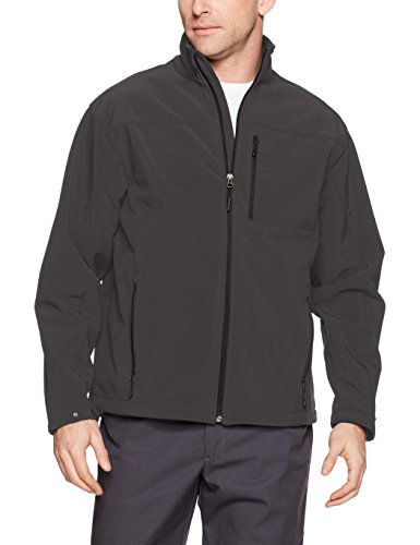 Red Kap Men's Deluxe Soft Shell Jacket, Charcoal, 2X-Large by Red Kap
