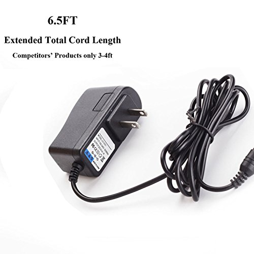 (6.5ft Cable) Compatible AD24 AD-24 Fit for Brother P-touch Label Maker PT-D210 PT-D200 PT-1880 PT-2730 PT-1230 PT-1290 PT-1280 9V AC DC Power Supply Adapter