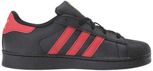 adidas Originals Superstar Unisex-Kinder Sneakers Cblack,scarle,goldmt