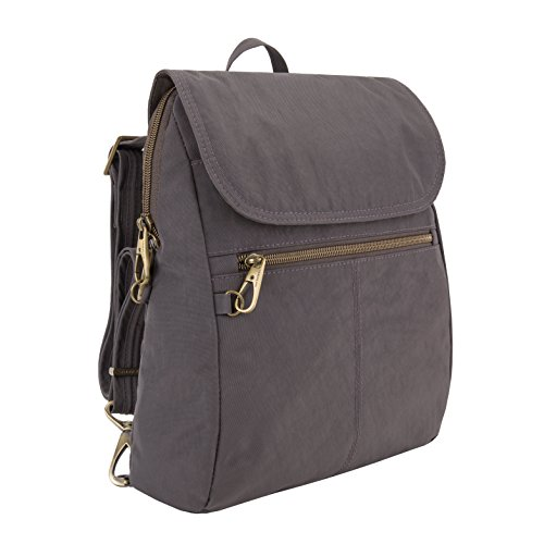 Travelon Anti-theft Signature Slim Backpack, Smoke