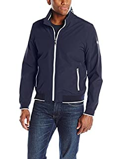 Tommy Hilfiger Mens Big and Tall Stand Collar Lightweight Yachting Jacket