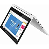 2019 Newest Lenovo 2-in-1 11.6' HD IPS TouchScreen LED-Backlight Chromebook | MediaTek MT8173c 2.1 GHz Quad-Core | 4GB RAM | 32GB EMMC | SD Memory Card Can Up to 128GB SSD | Chrome OS | Blizzard White