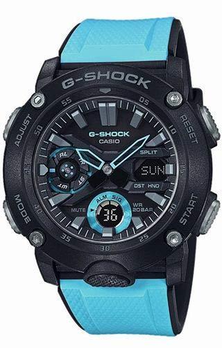 - Casio Mens Analogue-Digital Quartz Watch with Resin Strap GA-2000-1A2ER