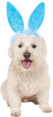 Rubies Costume Company Crinkle Blue Bunny Ears Pet Headband
